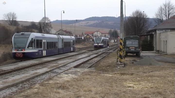 Croisement en gare de Podolínec