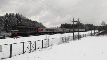 Trains 79 & 80, Янтарный Берег, transit en Lituanie. La suite, version 2012